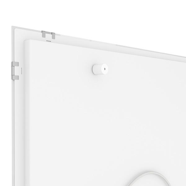 Glasheizung weiß 750 Watt 90x70cm